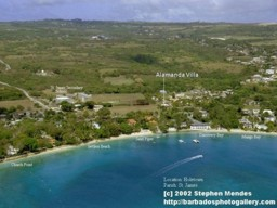 Alamanda Luxury Self Catering Villa's Location Hole Town, West Coast of Barbados.